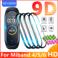 9D Protective Film Glass for Xiaomi Mi band 4 5 6 Full Cover for Mi band5 Smart Watchband Soft Screen Protector For Mi Band Case 1