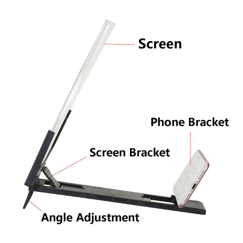 14 Inch High Definition Folding Screen Amplifier Phone Magnifier Stand Holder 5