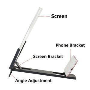 Image 5 - 14 אינץ בחדות גבוהה מסך מתקפל מגבר טלפון זכוכית מגדלת Stand מחזיק