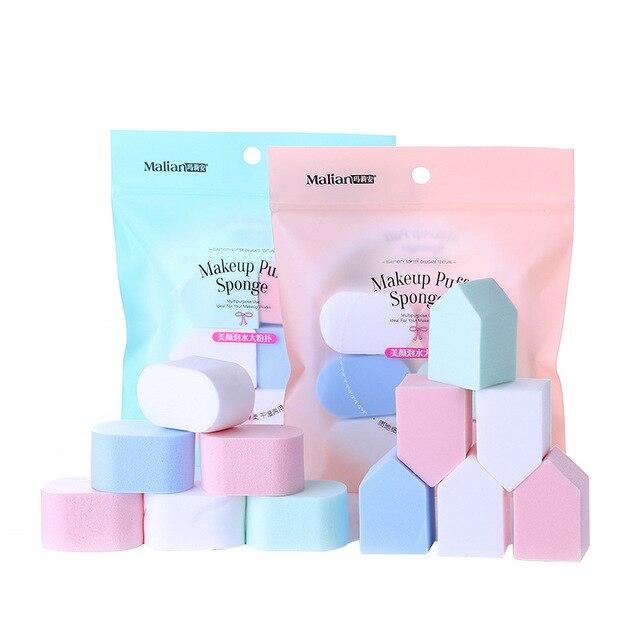 Malian Beautification pao shui da Makeup Puff BB Cream Foundation Universal Makeup Sponge Wet And Dry Dual Purpose Makeup 6 PCs 1