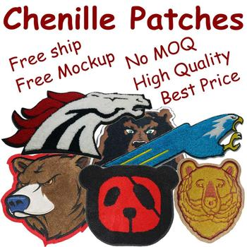 Custom Chenille Patches Letters patches For Hoodie stick-on Backing Name Chenille Patches Embroidery Patches фото