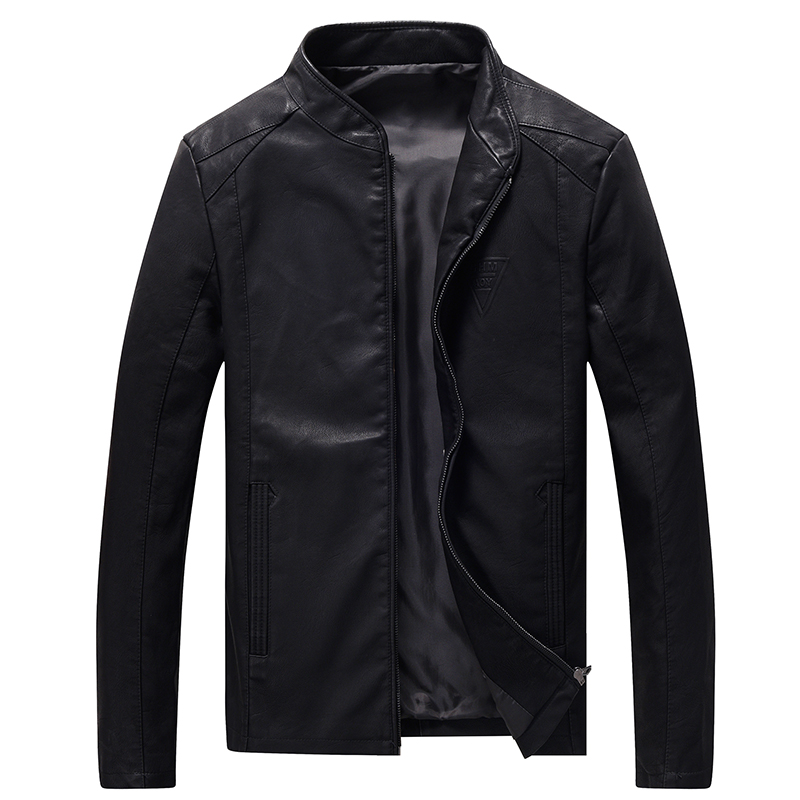 Leather Jacket Men Big Size M-8XL Autumn Slim Fit Faux Casual PU Jackets Motorcycle Bomber Streetwear Male Coats Plus Size,GA426