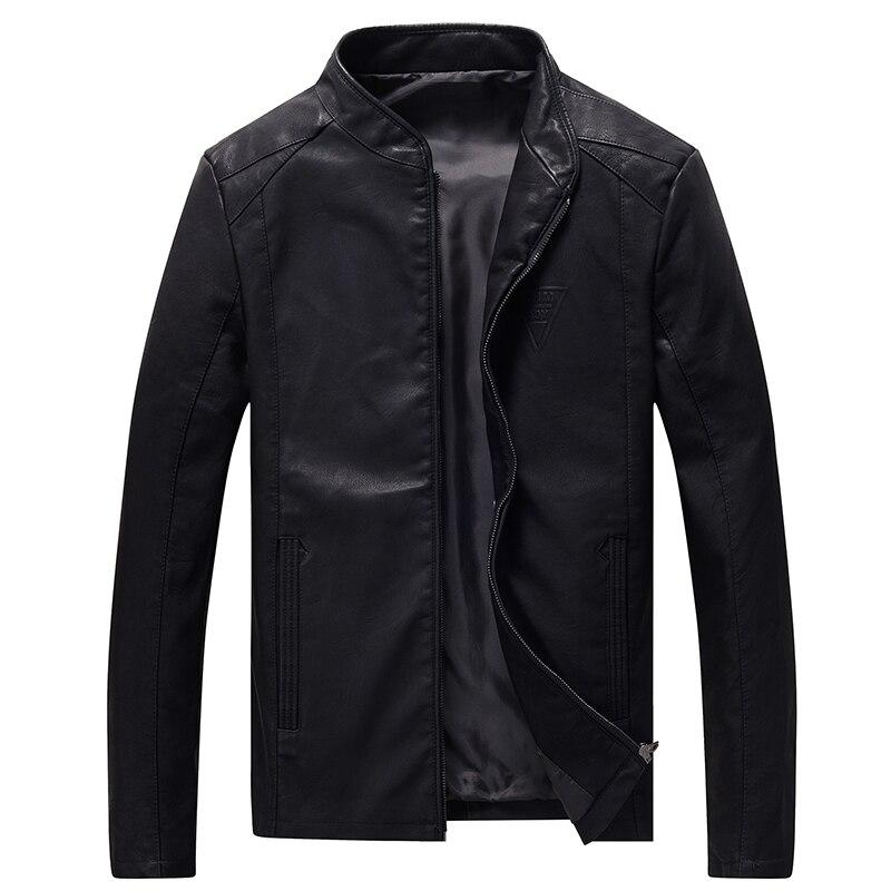 Leather Jacket Men Big Size M-8XL Autumn Slim Fit Faux Casual PU Jackets Motorcycle Bomber Streetwear Male Coats Plus Size,GA426