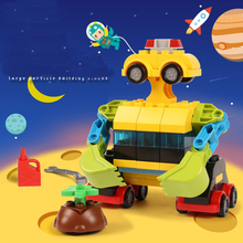 65 granule free assembling building block robot large particle model construction 3 years old childrens toy blocks