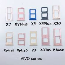 VIVO X7 X7PLUS X9 X9P X20 Xplay6 Xplay5 V3 X6P V3max Dual SIM SD TF Card Holder Adapter Smartphone PCB Board Repair Part Eject(China)