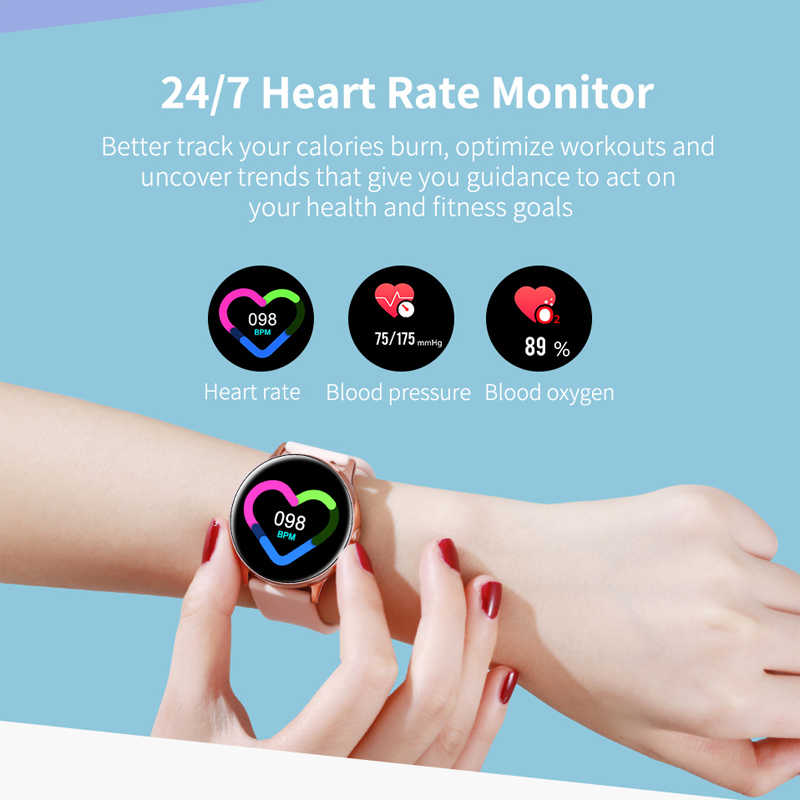 Eseed Dt88 Smart Watch Women Ip68 Waterproof 1 22 Inch Screen Heart Rate Blood Pressure For Android Ios Samsung Huawei Watch Smart Watches Aliexpress