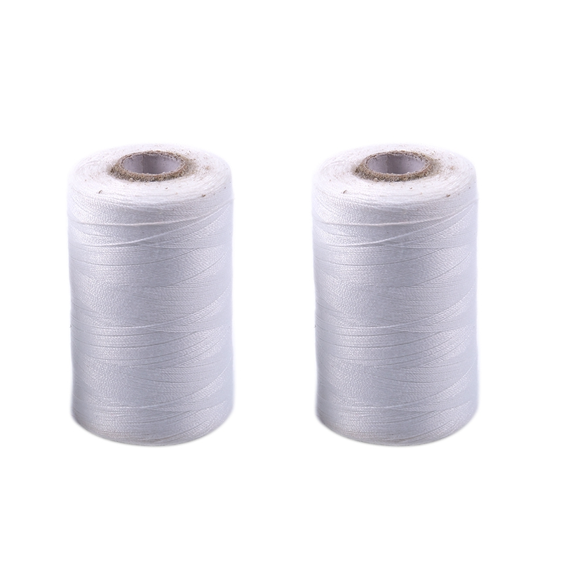 2PCS Black /& White Color 500m THREAD CONES Polyester SEWING THREADS 550 YARDS