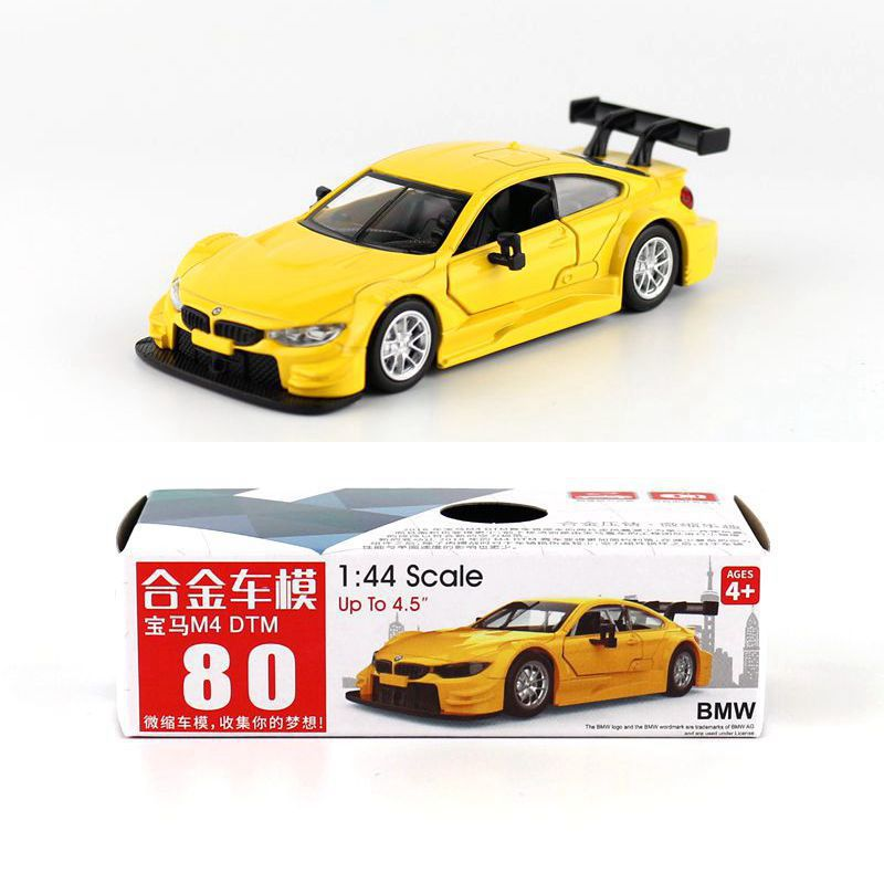 1:44 Scale M4 DTM Alloy Pull-back Car Diecast Metal Model Car For Collection Friend Children Gift