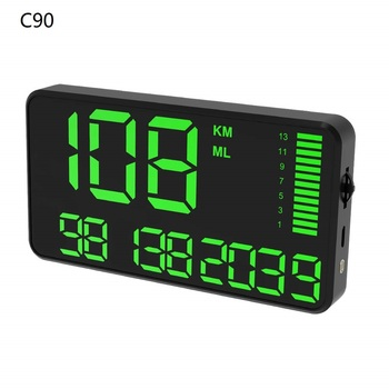 Universal GPS HUD Speedometer Odometer Car Digital Speed Display MPH Over Speed Alarm Car Clock for All Vehicles C80 C90