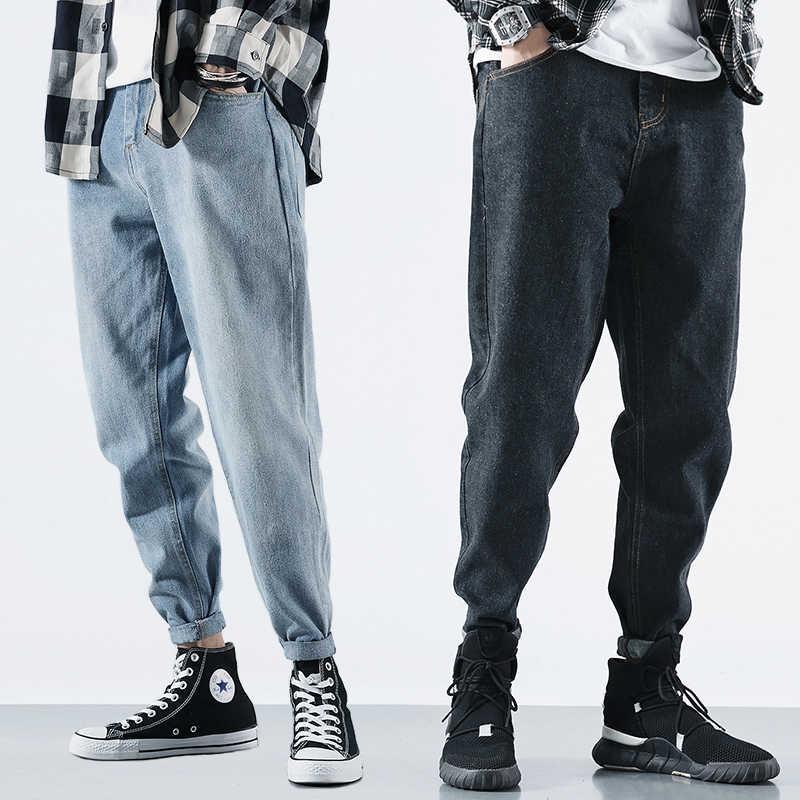 Japanese Style Fashion Men Jeans Loose Fit Retro Wash Vintage Harem Pants Streetwear Designer Tapered Jeans Men Pencil Pants Men Jeans Aliexpress