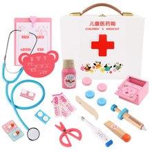 34 шт. Детский Набор доктора, стоматологические Игрушки для девочек, ролевые игры, больница, ролевые игры, медицинский набор, сумка для медсестры, игрушки для детей