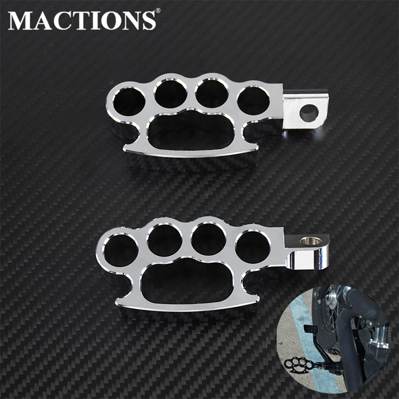 Motorcycle Flying Knuckle Footpegs Chrome Control Foot Pegs Footrests Custom Pedal For Harley Sportster XL Dyna Softail Fat Boy