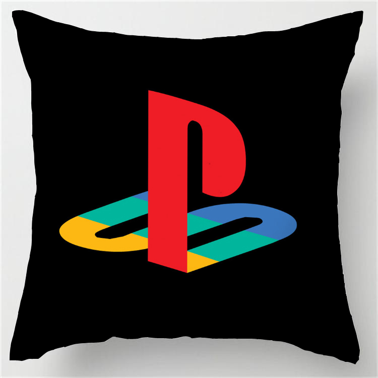 Customized Hot Sale Luxury Printing Custom Playstation Funny Vintage Style Square Pillowcase Throw Pillow cover 1