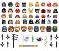 50 различных фигурок из аниме-фильмов, игрушечные мини-кубики, Размер 4,5 см, строительные блоки, детские игрушки, подарок