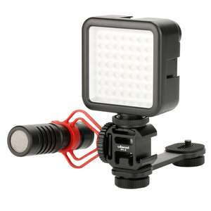 Image 3 - Ulanzi PT 3 Triple Hot Shoe Mount Adapter Microfoon Extension Bar voor Zhiyun Glad 4 Stabilizer DJI Osmo Gimbal Accessoires