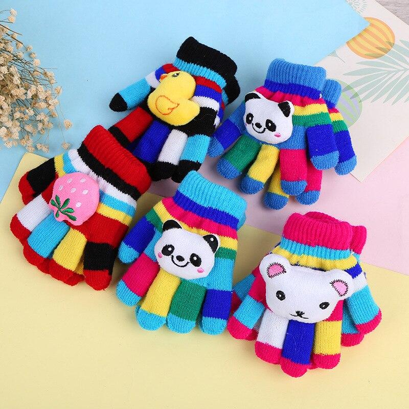 Winter CHILDREN'S Gloves Cartoon Knit Gloves Children Warm Gloves Stall Supply Of Goods Manufacturers Wholesale