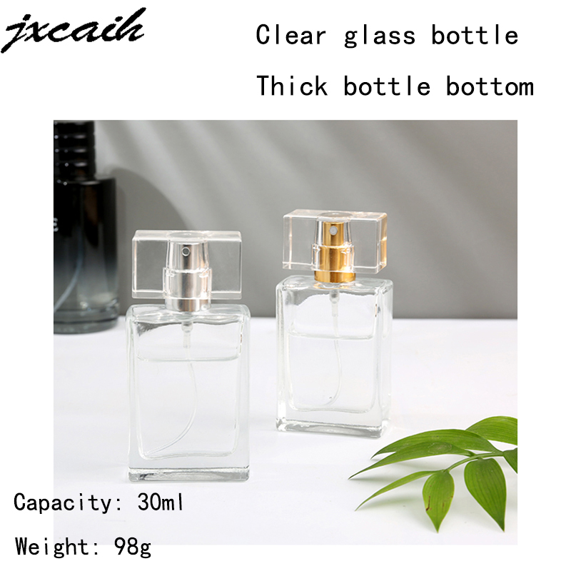 1pcs Hot Sale 30ml Empty Refillable Portable Perfume Bottle And Traveler Glass Spray Atomizer Transparent Perfume Bottle
