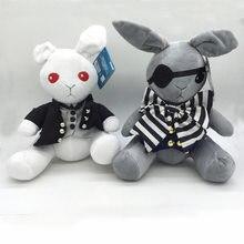 Lapin noir majordome de 30cm en peluche, lapin amer Ciel et lapin de steve, films d'anime japonais, jouets de noël en peluche
