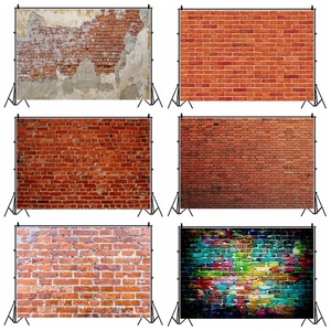 Image 1 - Laeacco Brick Wall Backdrops Vintage Grunge Baby Portrait Photography Backgrounds Birthday Party Photocall For Photo Studio Prop
