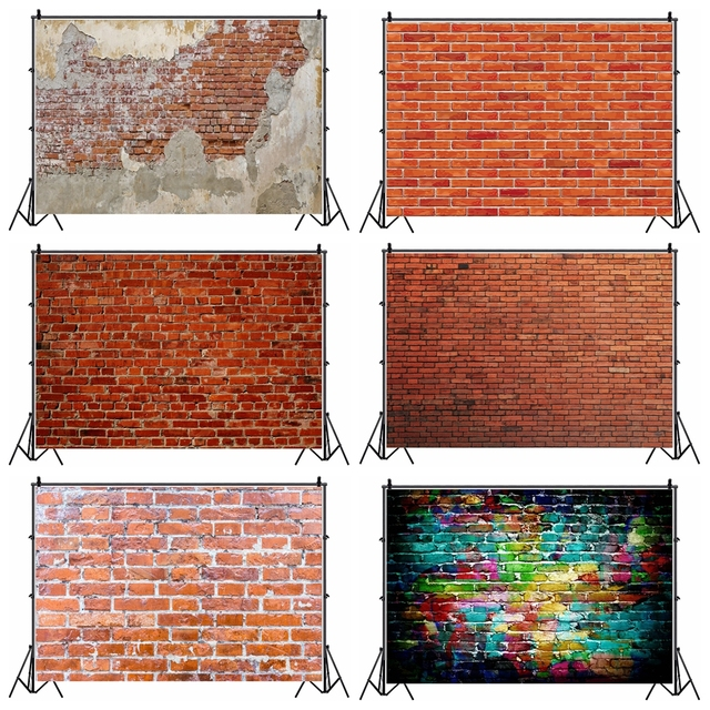 Laeacco Brick Wall Backdrops Vintage Grunge Baby Portrait Photography Backgrounds Birthday Party Photocall For Photo Studio Prop