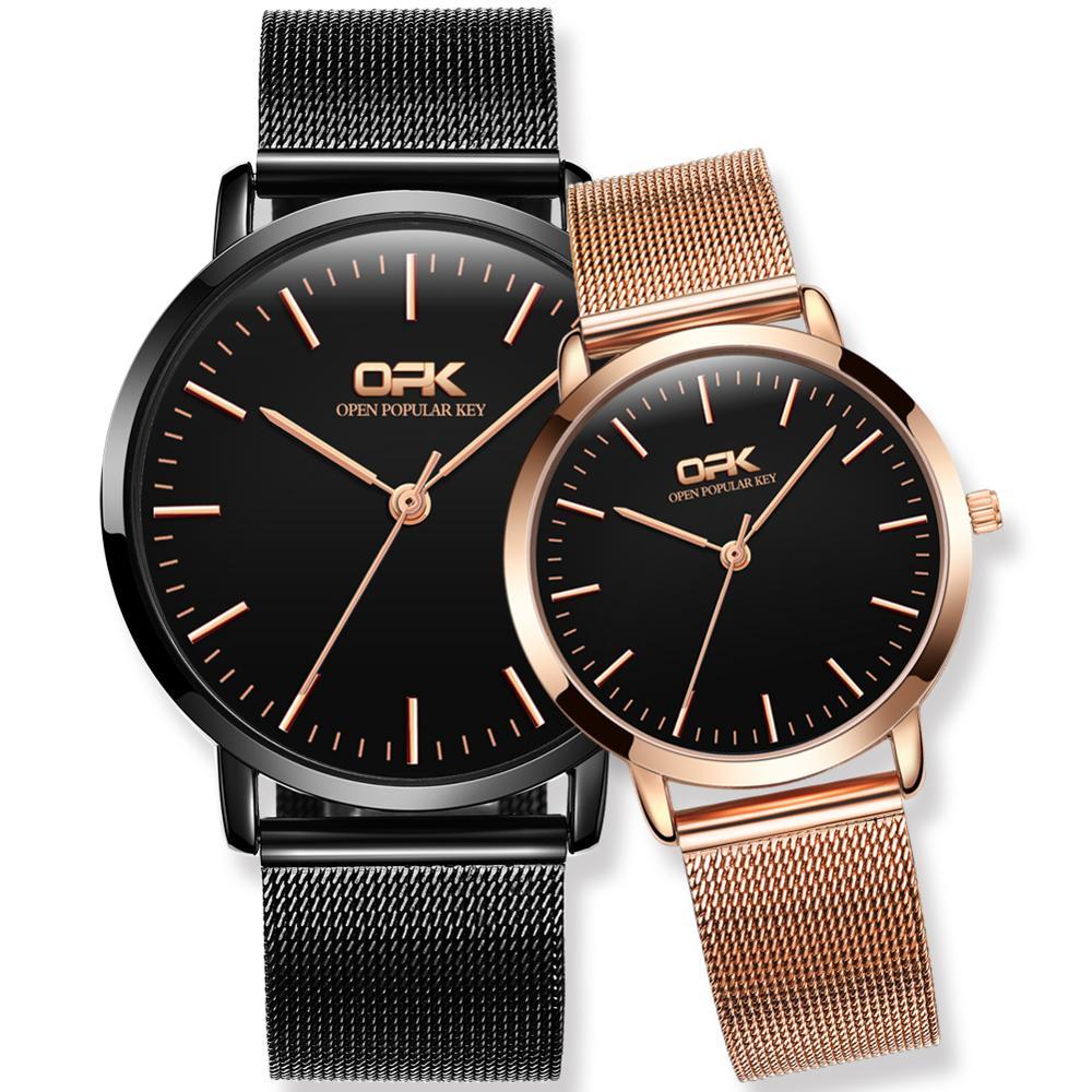 OPK Watch Cross-border Explosion Models Non-mechanical Watch Calendar Couple Watch Set Quartz Watch Men's Watch Men's Watch