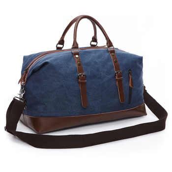 2020 di modo di Casual Uomini di Grande Capacità Borse da viaggio Maschio Week-End Esterno della Tela di canapa Borse Vintage di Alta Qualità Duffle Bag XA41F