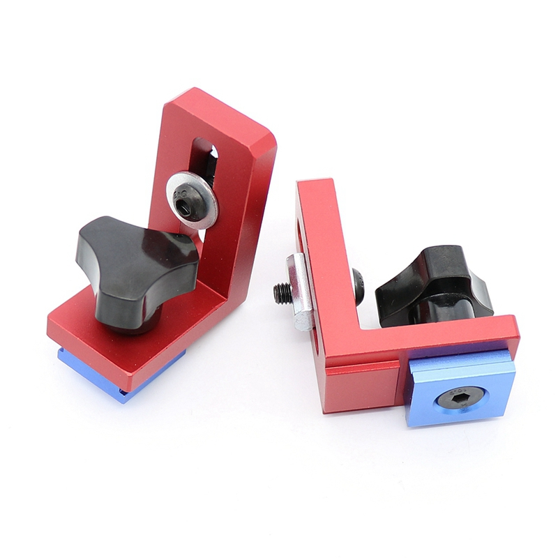 Set Of 2 T-Track Sliding Brackets For Aluminium Profile Woodworking Tools, T-Tracks Not Included