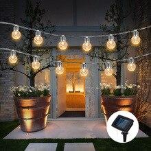 6M 20 Lights LED Solar/USB/Battery Light String Pineapple Ball Shape Wedding Decoration Decorative Festival Garden
