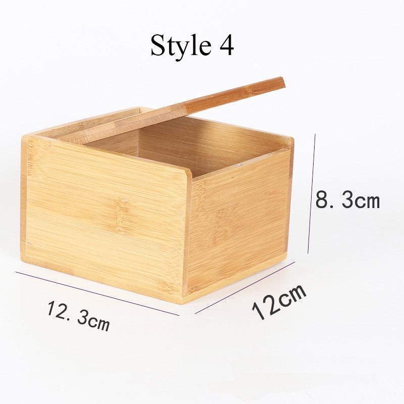 Твердая бамбуковая деревянная коробка для салфеток настольная бумага органайзер для хранения держатель для салфеток чехол украшение дома - Цвет: Style 4