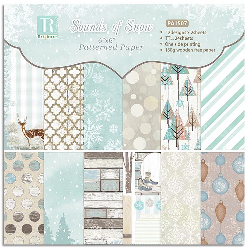 6 Inch 12/24 Sheet Sounds OF Snow Scrapbook Paper Origami Background Paper DIY Card Making Home Deco Gift Arts And Crafts