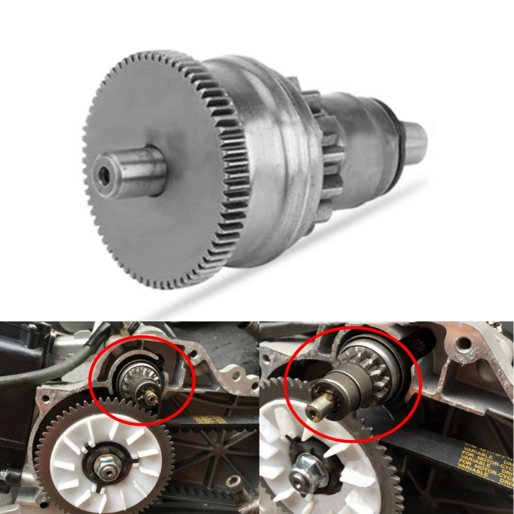 Clutch Starter Motor Gear Engine For Bendix GY6 49CC 50CC 60CC 139QMB 139QMA Scooter Moped ATV Go-Kart