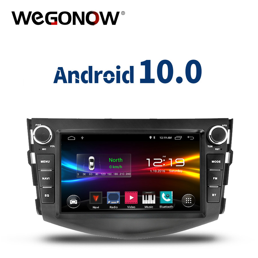 DSP Android 10,0 quad Core 2GB + 32GB Auto DVD Player GPS WIFI Bluetooth TPMS carplay RDS Radio für <font><b>Toyota</b></font> RAV4 <font><b>RAV</b></font> <font><b>4</b></font> 2006 -2012 image