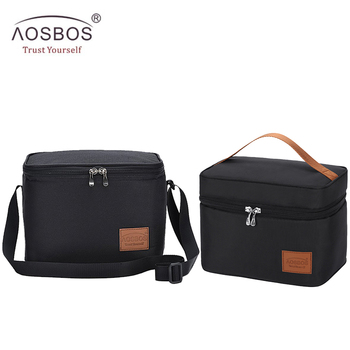 Aosbos Portable Thermal Lunch Bags for Women Kids Men Fashion  Picnic Cooler Bag Insulated Travel Food Tote Box 2019 - discount item  45% OFF Special Purpose Bags