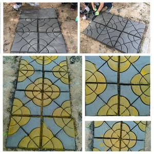 Image 2 - 1PC Garden Paving Mold DIY Manually Paving Cement Brick Stone Pathway Road Concrete Molds Path Maker Pavement Molds Mould