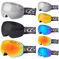Rimless Ski Goggles Double Layers Anti fog Big Ski Mask Glasses Skiing Snow Snowboard Goggles Eyewear for outdoor sport|Skiing Eyewear|   -