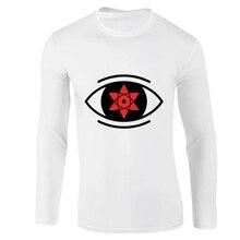 Mens High-Quality Naruto Print Long Sleeve T Shirt Autumn New 100% Cotton Japan Anime Man Tshirt  O-Neck Casual Loose T-shirt