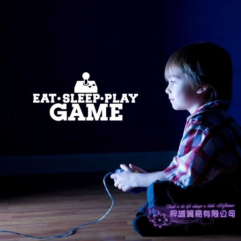 Game Sticker Eat Sleep Play Gamer Decal Gaming Posters Gamer Vinyl Wall Decals Parede Decor Mural Video Game Sticker