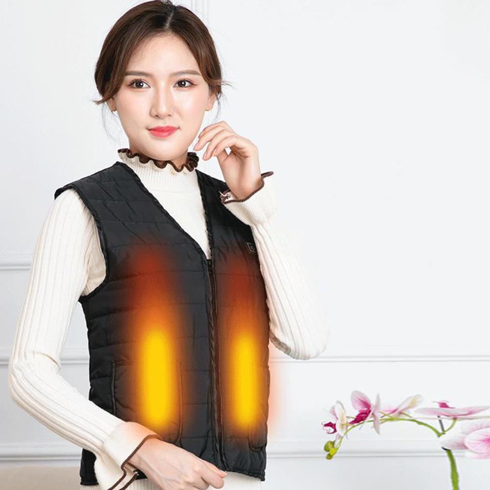 Heated Vest Men Women USB Charging Three-level Infrared Heating Vest Washable Clothes Skin-friendly Soft For Hiking Motorcycle