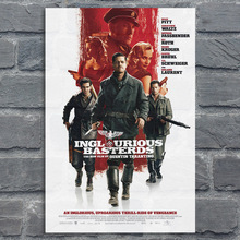 Classic Movie Silk Poster Inglourious Basterds Art Prints Posters Vintage Wall Decor Pictures Quentin Tarantino Posters top posters холст top posters 50х75х2см g 1044h