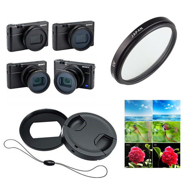 52Mm Uv Filter & Filter Mount Adapter Lens Cap Keeper Voor Sony RX100 Mark Vii Vi RX100M7 RX100M6 Digitale camera