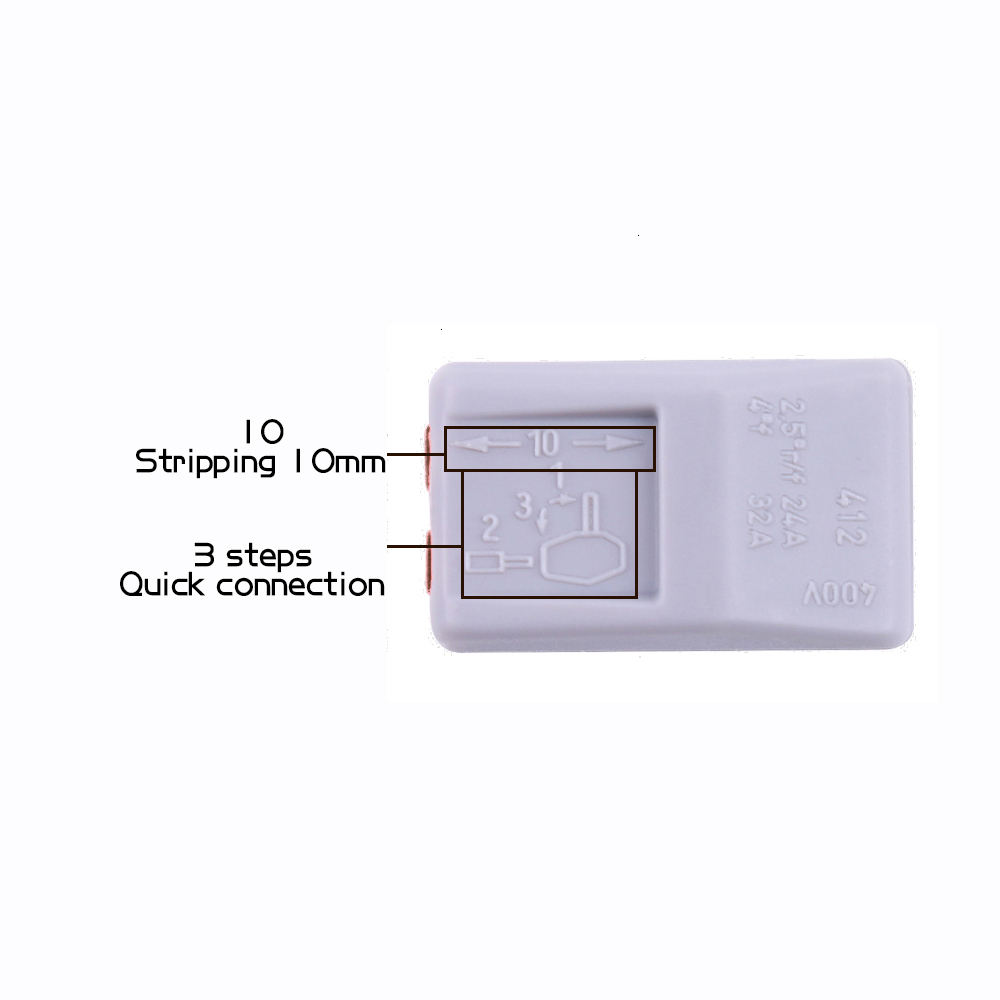 30/48PCS BOX Fast Wiring Connector Push-in Terminal Block Electrical Cage Spring Universal  Household Combination Suit