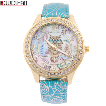 цена на Luxury Brand Sloggi Women Watch Cartoon Owl Strap Watches Ladies Casual Digital Leather Dames Horloges Reloj Mujer Montre Femme