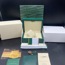 Watch-Box Papers Booklet-Card-Tags Rolexabl-Box Woody-Case Gift Dark-Green And in