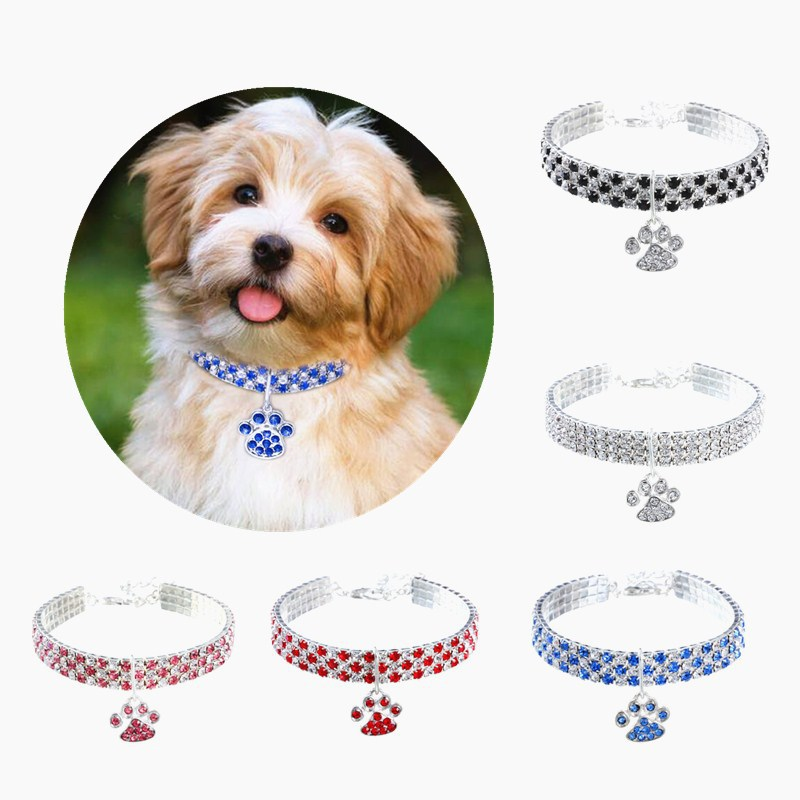 New Style Pet Collar Diamond Set Color Mixture Dogs And Cats Supplies Elasticity Dogs And Cats Necklace Ornament