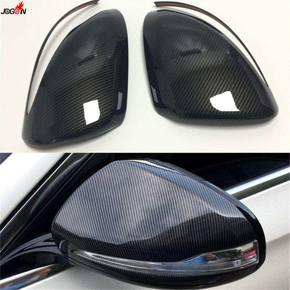 Carbon Fiber pattern Side Mirror Cover for Mercedes Benz new C E S CLS GLC Class
