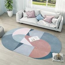 Скандинавские Ins Овальный ковер для детской комнаты прикроватные коврики для спальни кабинет Диванный кофейный столик пол коврик большой для чистки ковров, для дома ковры