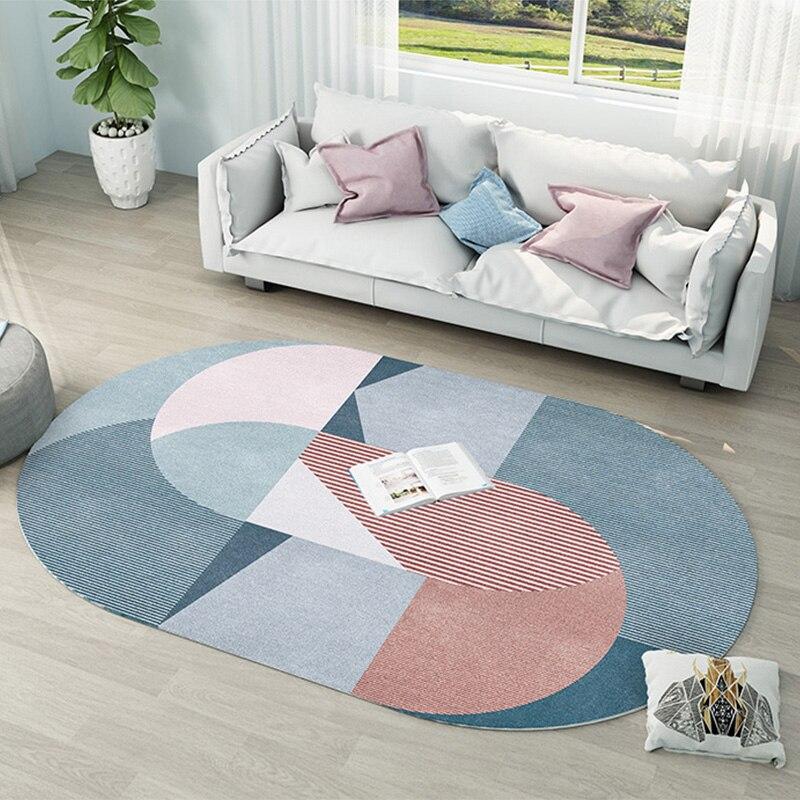 Nordique Ins ovale salon tapis enfants chambre chevet chambre tapis étude chambre canapé Table basse tapis de sol grande maison tapis