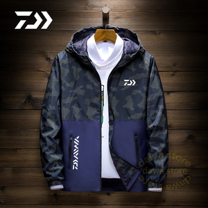 Мужская рубашка с капюшоном Fsihing, камуфляжная куртка, быстросохнущая тонкая одежда для рыбалки, Мужская Уличная одежда для велоспорта на ве...