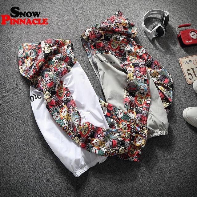 2020 women jackets Winbreaker female Casual Hoodies Jackets Printed Clothes Woman's Hooded Windbreaker female Outwear Streetwear 4