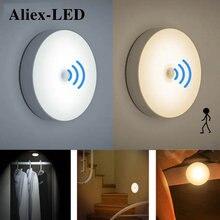6led ночные светильники датчик движения декор для спальни лампа